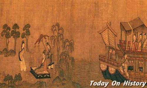 顾恺之吃甘蔗的理论 顾恺之渐入佳境画《洛神赋图》