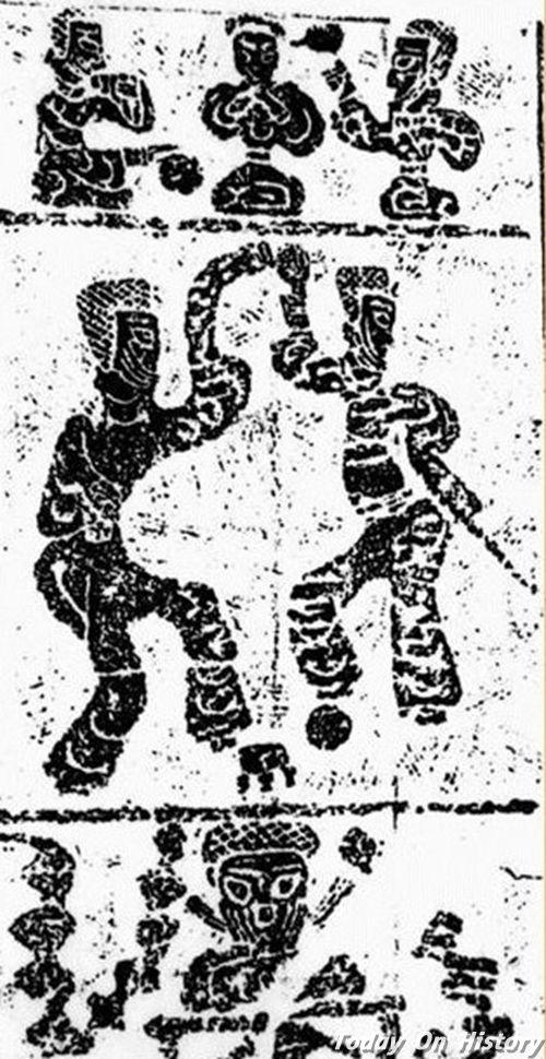 汉朝的蹴鞠运动 蹴鞠可与舞乐相伴出现