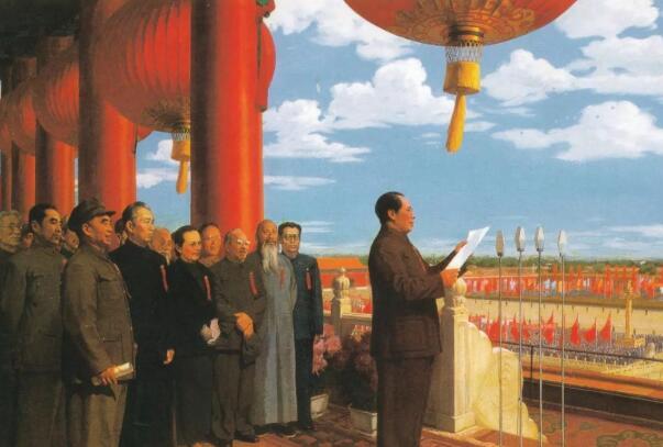 在70年前的10月1日新中国成立了